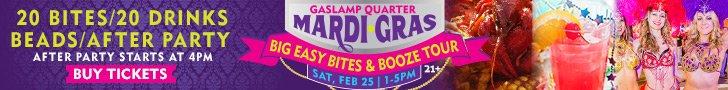 San Diego Events, San Diego Mardi Gras, Bites and Booze Tour