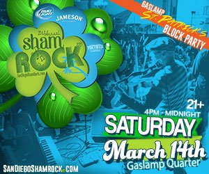 San Diego celebrates St. Paddy's Day with the shamROCK Festival in the Gaslamp Quarter.