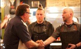 Chef Stephen Gage, Chef Daniel Barron, Tommy Gomes