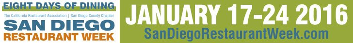 San Diego Restaurant Week January 2016
