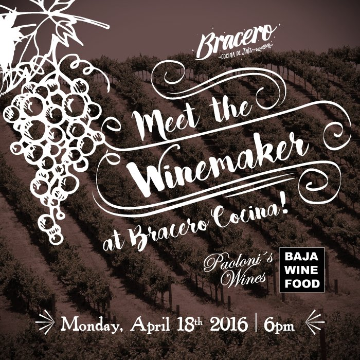 Bracero, Meet the Winemaker Dinner